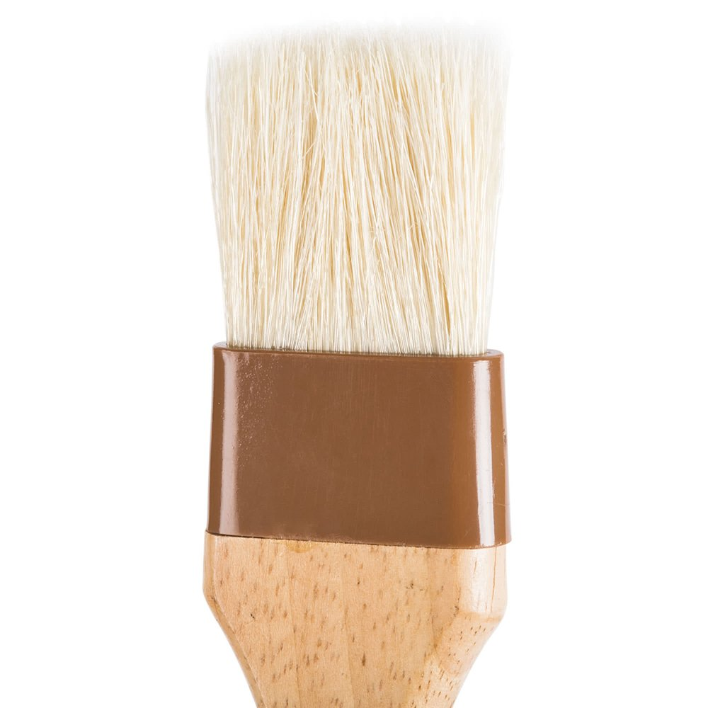 4-Piece Pastry Brush Set of 1-Inch, 2-Inch, 3-Inch and 4-Inch Width Brushes with Boar Bristles, Lacquered Hardwood Handle, Professional Kitchen/Cooking Brushes by Tezzorio Baking Supplies (Image #2)
