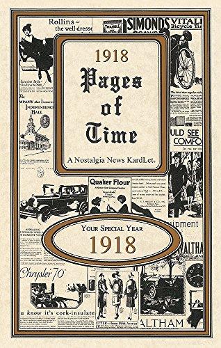 - 1918 Pages of Time Kardlet (PT1918)
