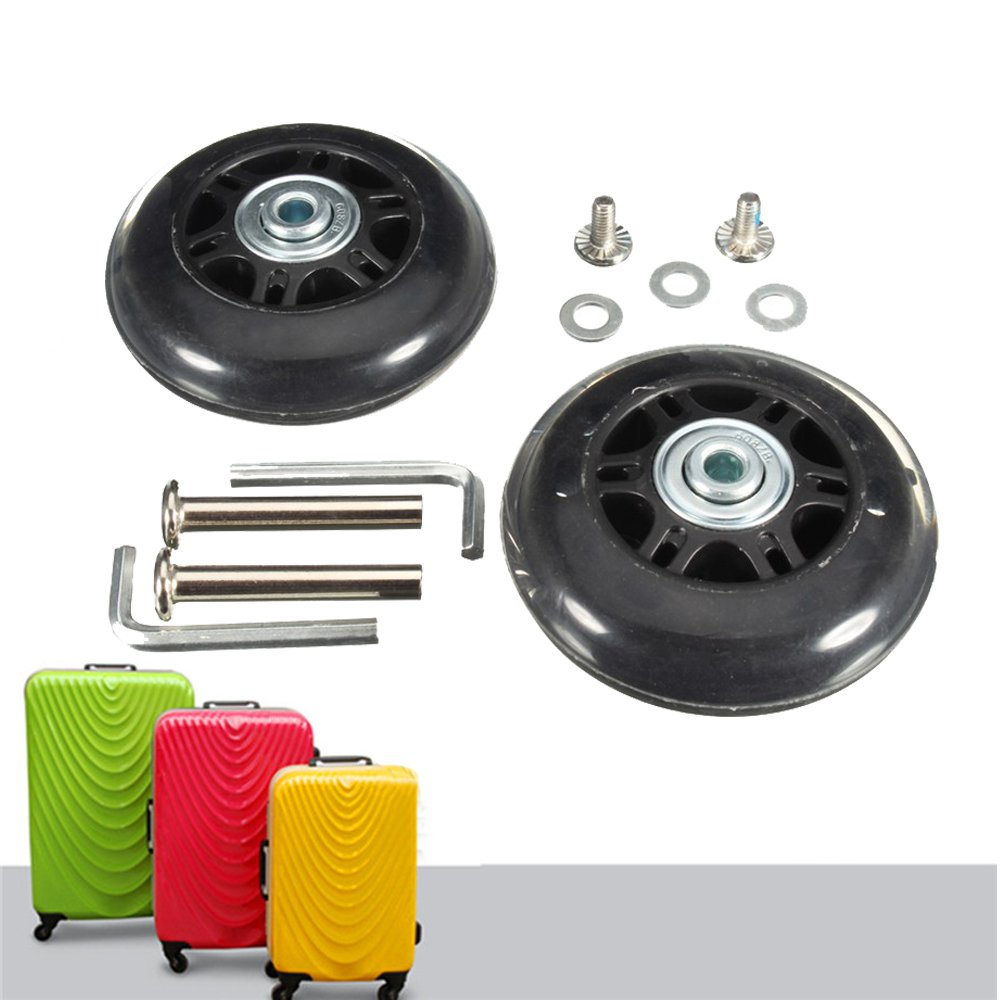 ZW Homeland Badass Sharks Black Luggage Suitcase//Inline Outdoor Skate Replacement Wheels with ABEC 608zz Bearings