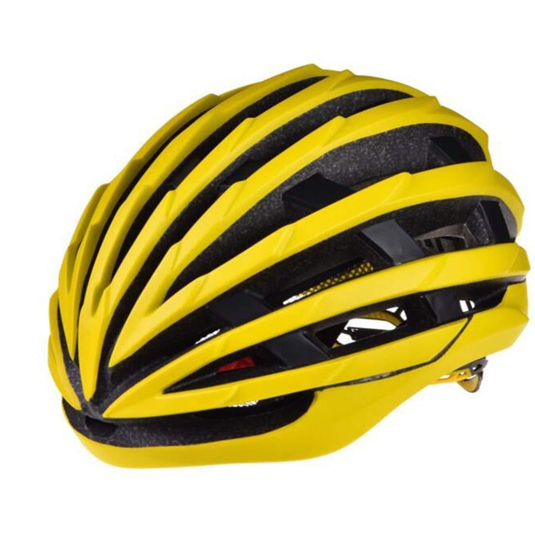 万全区孔家庄镇美衣社女装店 自転車用ヘルメット、屋外用サイクリング愛好家に最適な自転車用安全ヘルメット。 (色 : イエロー)  イエロー B07RLJYBM1