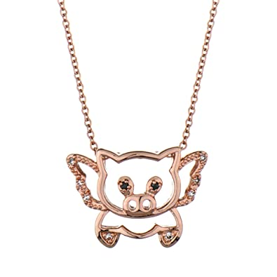 Amazon trudys flying pig necklace rose gold hued pendant trudys flying pig necklace rose gold hued mozeypictures Gallery