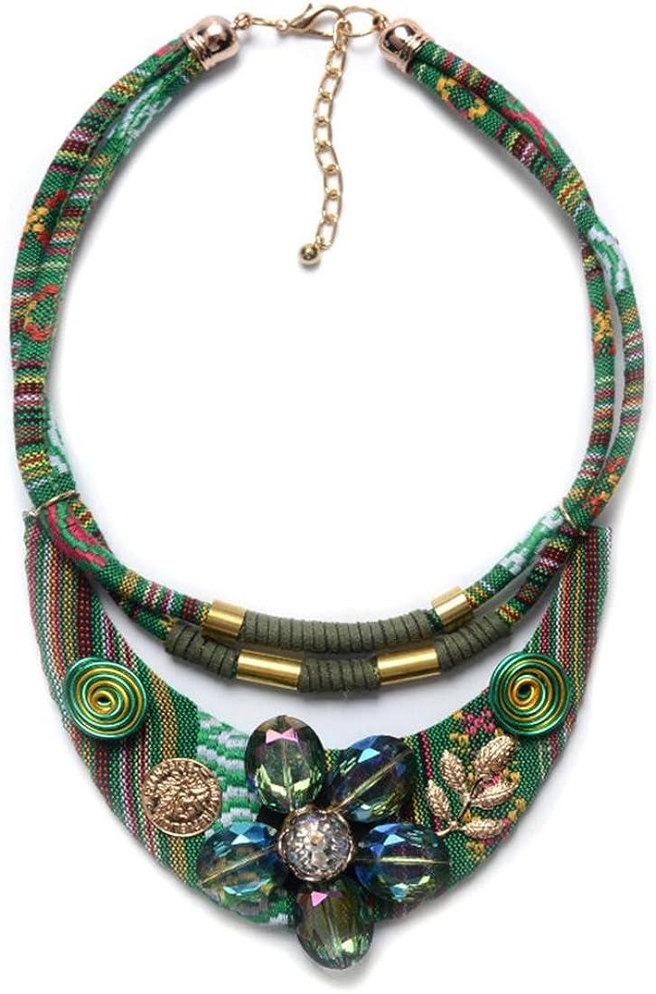De la moda europea y americana exageró nueva sección larga de diamantes falsos collar de cuello de joyería popular populares de las mujeres nacionales del estilo