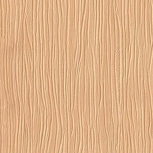 Forest Giddy Orange Embossed Textured Wallpaper - Sample Swatch - by Romosa ()