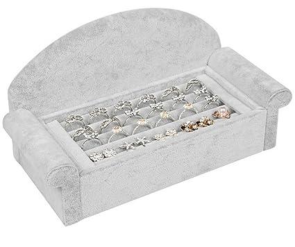 lfht terciopelo anillo pendientes caja de presentación Gemelos expositor para bandejas Anillo Insertar Caso Soporte Organizador
