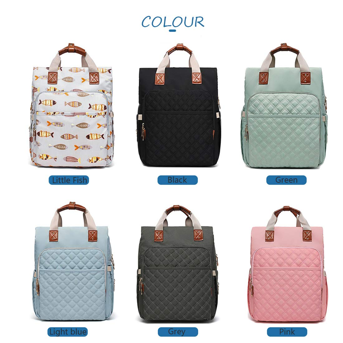 Stylish and Fashion Modern for Dad /& Mom 2019 Upgrade BRIGHTSHOW Diaper Bag Backpack Large Capacity Multi-Function Waterproof Travel Backpacks Organizer Bags for Baby Boy Girl Care
