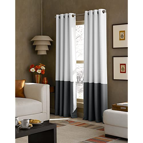 Navy Blue And White Curtains Amazon Com