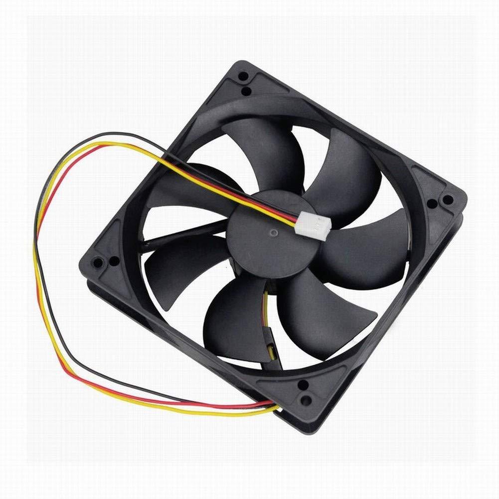 GDSTIME 12V 3PIN 120mm Fan, 120x120x25mm DC Brushless CPU Cooling Fan