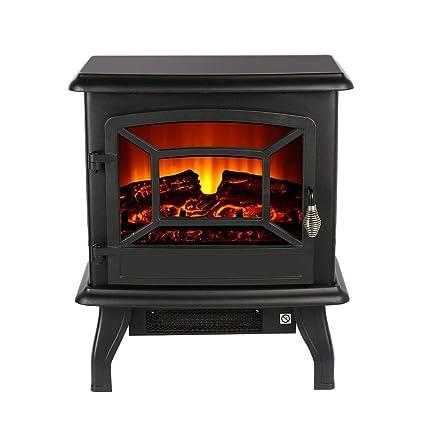 Homgrace 17inch Electronic Fireplace Suite Stove Fire Fan Heater