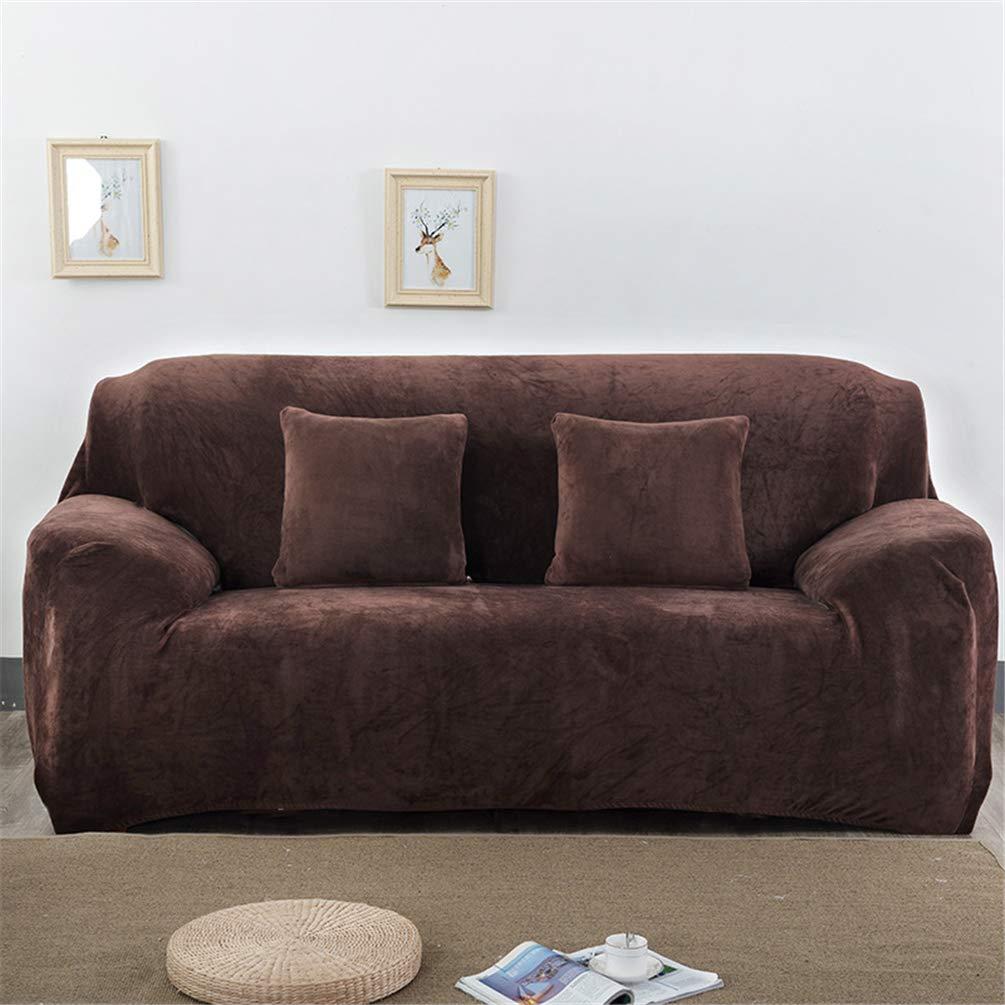 JITIAN Settee Cover All Inclusive Plush Thick Non Slip Leather Fabric Sofa Cover Full Cover
