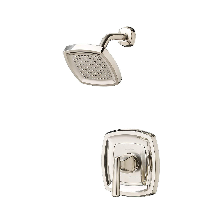 Brushed Nickel American Standard TU018507.295 Edgemere Trim Kit with Water-Saving Shower Head and Cartridge