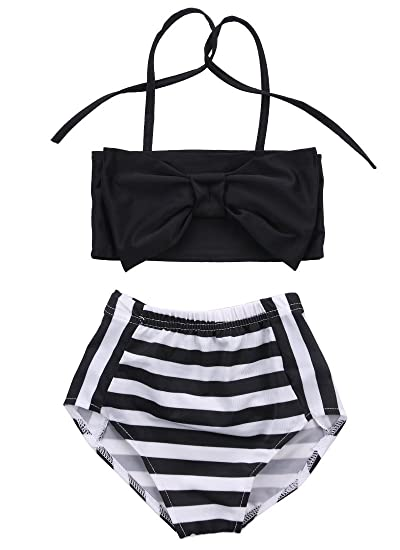 83338a8ac5 Amazon.com: Albee Yang Baby Girls Striped Bathing Suit Baby Swimsuit Bathing  Swimming Clothes: Clothing