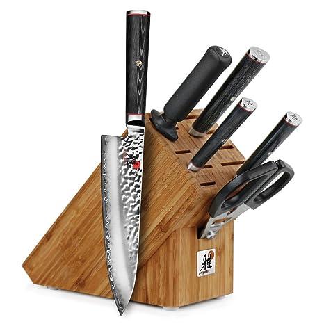 Amazon.com: Miyabi Mizu SG2 – Bloque para cuchillos (7 ...