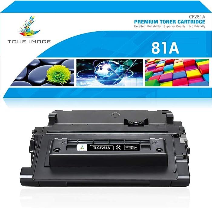 True Image Compatible Toner Cartridge Replacement for HP 81A CF281A 81X Laserjet Enterprise MFP M605 M604 M604N M604DN M605N M605DN M605X M630 M606 M630h M630dn M630z Printer Ink (Black, 1-Pack)
