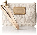 Michael Kors Handbag Jet Set Small Signature Wristlet Vanilla