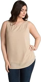 product image for Kiyonna Women's Plus Size Callista Crepe Tank