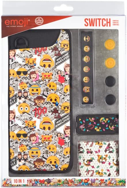 Indeca - Pack Accesorios 10 En 1 Emoji 2018 (Nintendo Switch ...