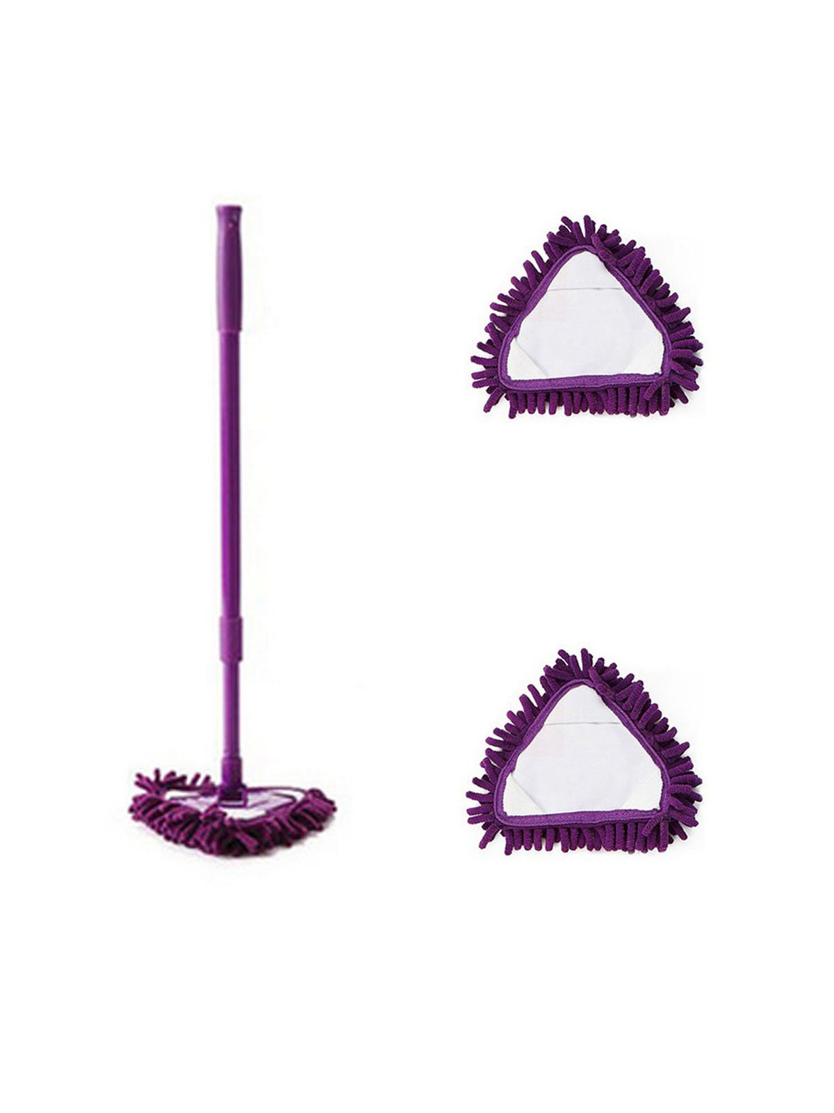 WJL Mini Microfiber Mop,Detachable,360 Degree Rotation,Equipped With 2PCS Replacement Mop Cloth