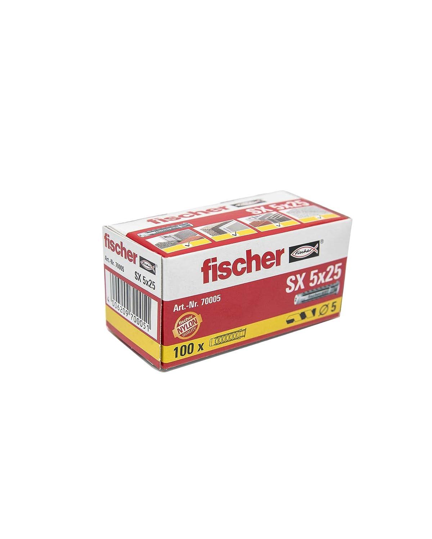 100 Tasselli In Nylon da 5 X 25 Fischer