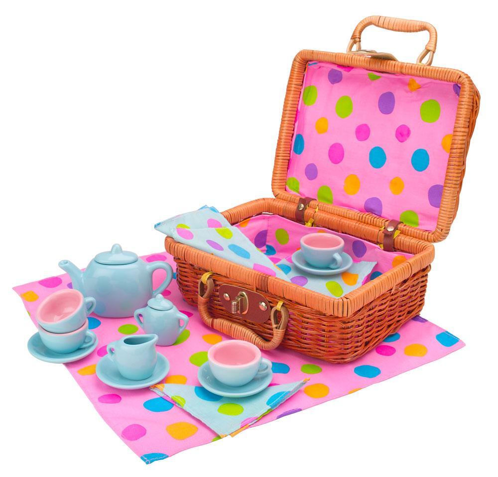 Toy Tea Set : Amazon alex toys tea set basket games