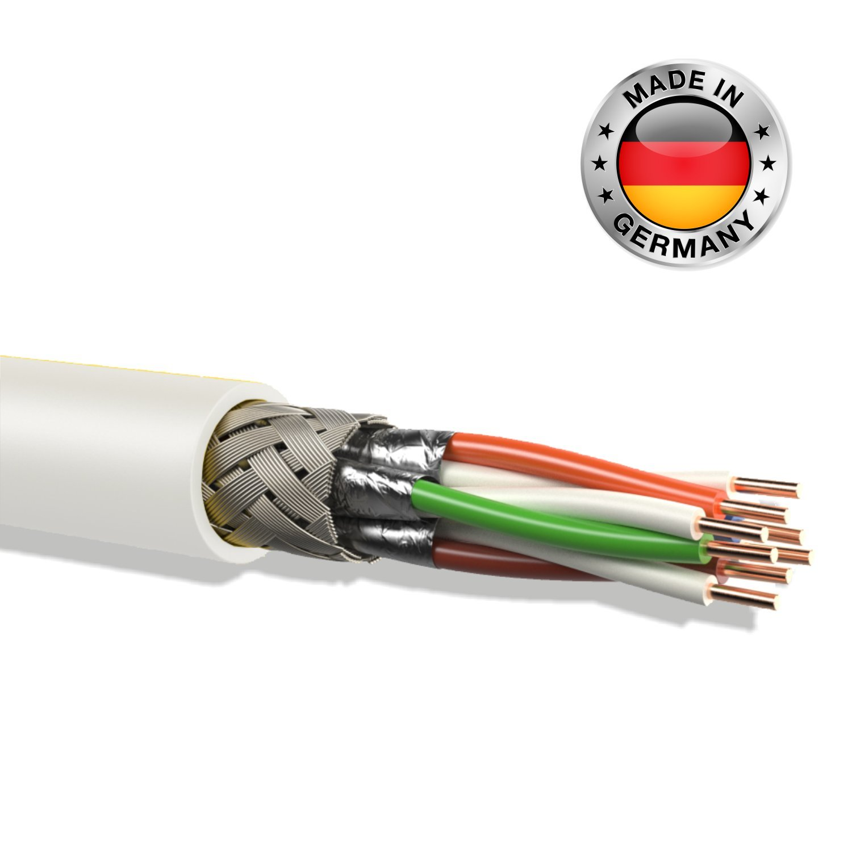 leoni cat 7 Verlegekabel Gigabit 10Gbit Netzwerkkabel: Amazon.de ...