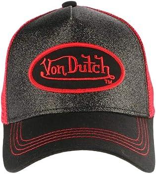 Von Dutch - Gorra de béisbol para Hombre, Color Rojo y Negro Rojo ...