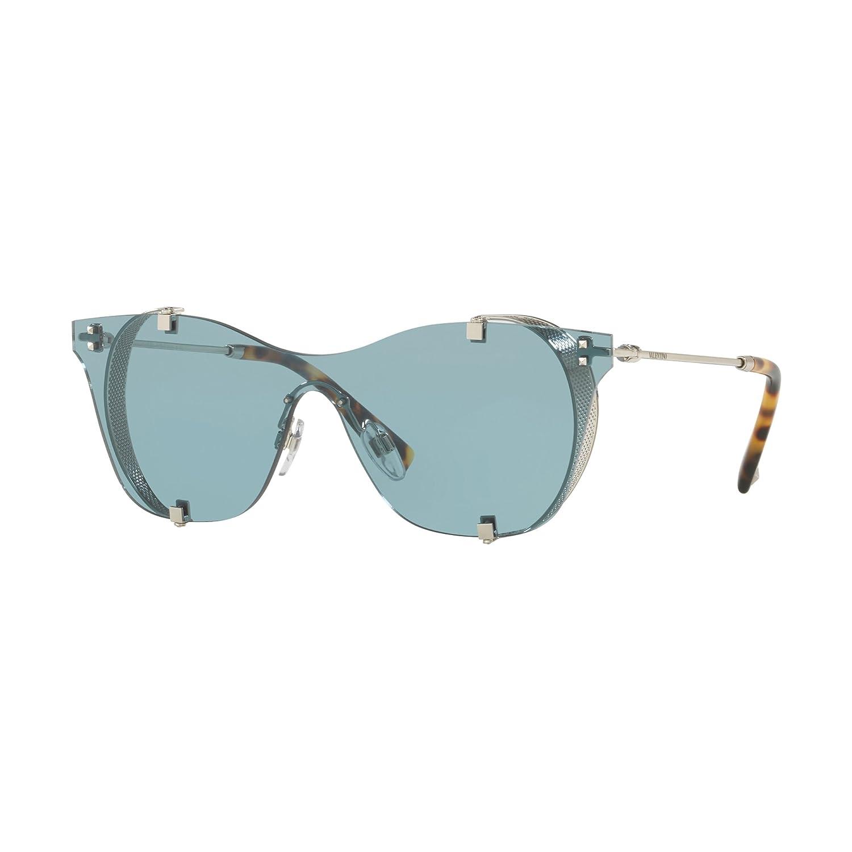 Valentino VA 2016 SILVER/BLUE 39/13/140 women Sunglasses at ...