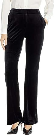 Calvin Klein Women s Velvet Pants Black 4 33 at Amazon Women s Clothing  store  234f8a4f2