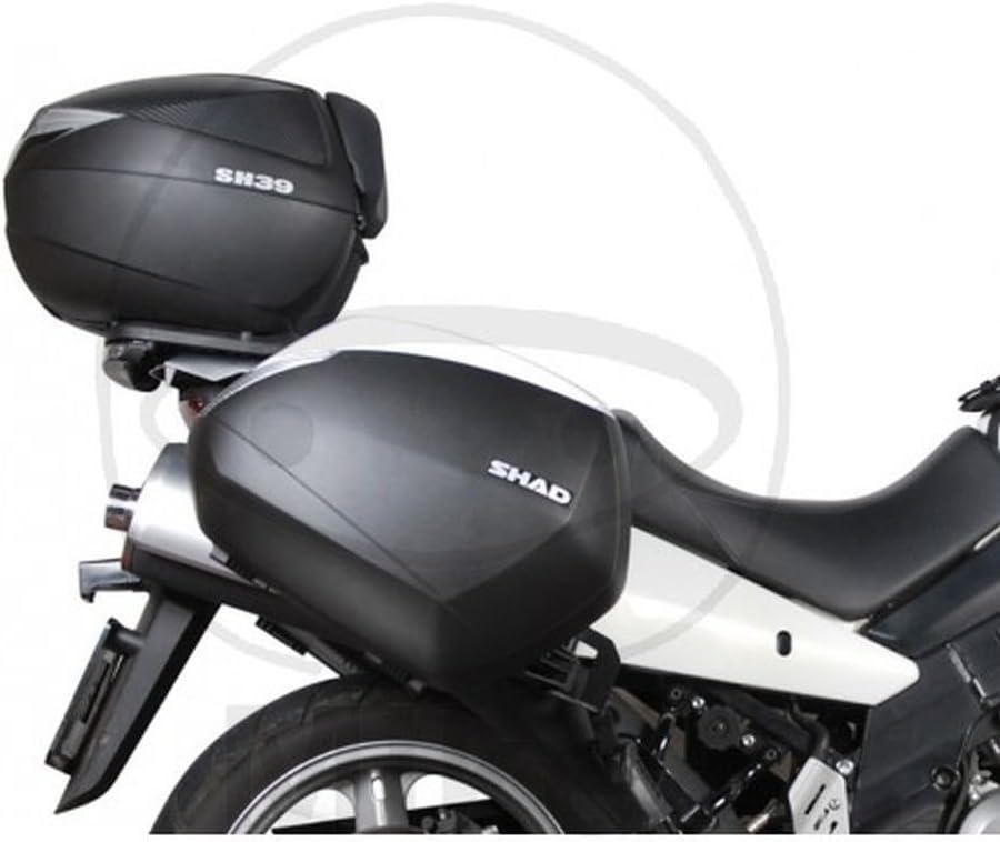 Negro Shad S0VS62SE Soporte Bolsa Lateral para Suzuki Vstrom 650