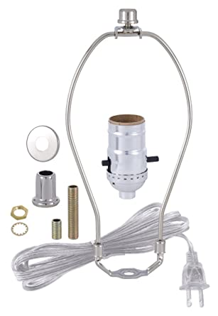 Bp lamp nickel plated finish table lamp wiring kit with 6 inch harp bp lamp nickel plated finish table lamp wiring kit with 6 inch harp push keyboard keysfo Images