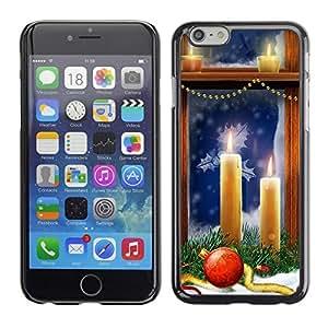 YOYO Slim PC / Aluminium Case Cover Armor Shell Portection //Christmas Holiday Window Candles 1199 //Apple Iphone 6