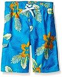 Kanu Surf Big Boys' Costa Floral Swim Trunk, Aqua, Medium (10/12)