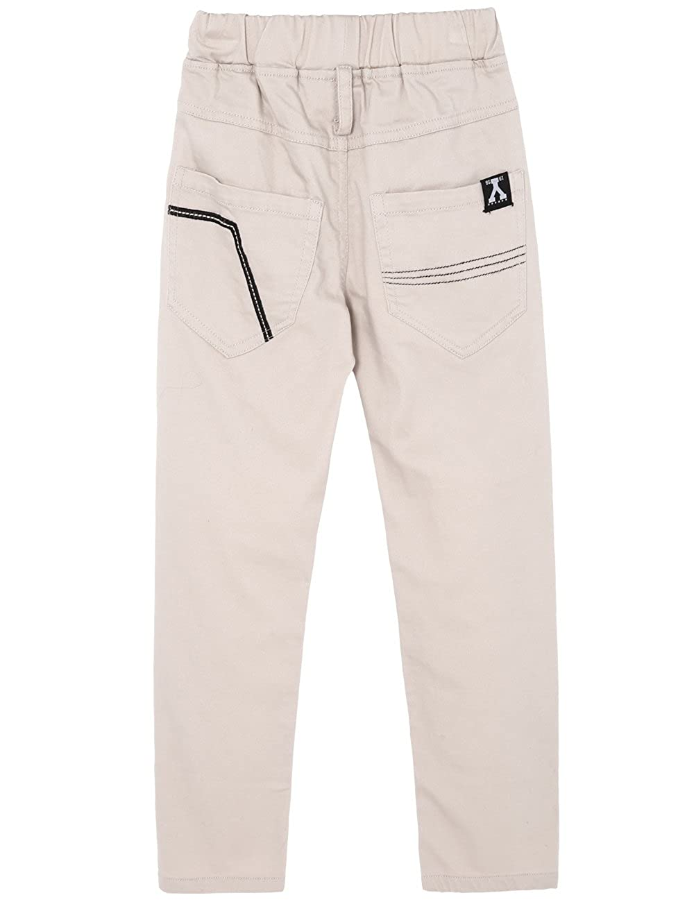 7170100822 BYCR Boys Elastic Waist Cotton Jogger Pants For Kids Size 4-12 No