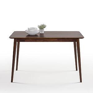 Zinus Jen Mid-Century Modern Wood Dining Table / Espresso