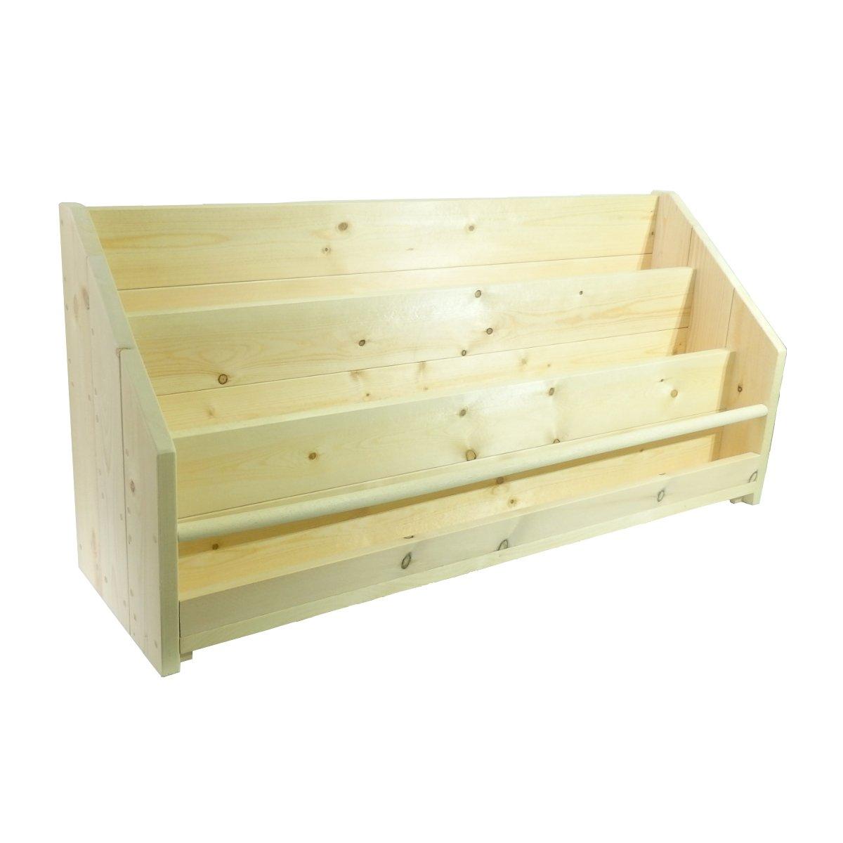 Make Woood シンプルな絵本ラック キッズ ブックシェルフ ディスプレイ【完成品】ハンドメイド 木の香りと温かみのある雰囲気 ナチュラル 素材 子ども目線で取り出しやすい ロータイプA たくさん置ける 60cm (ICO-BKSF/W60AL) B071DD4XR2 W60cm AL  W60cm AL