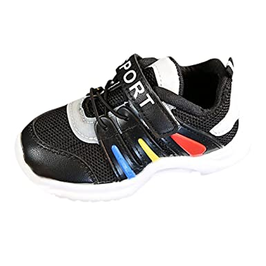 3e8c0ac94293 Sunbona Children Baby Boys Girls Letter Mesh Light Weight Breathable Sports  Running Kids Casual Sneakers Shoes