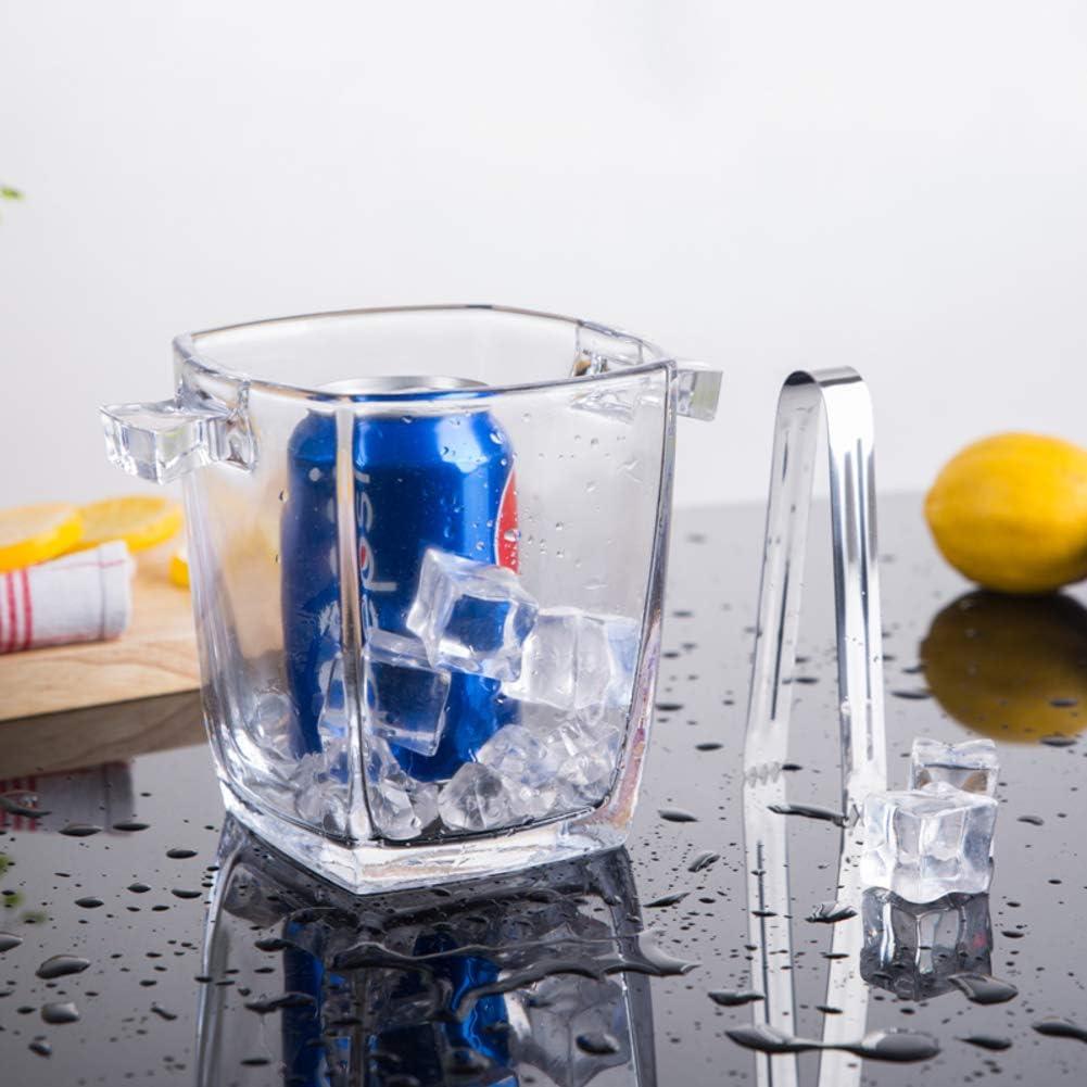 Vaso Cubitera Cubo De Hielo Champagne Cubitera De Vino,aislamiento Cubitera Cubo De Hielo Con Pinzas Hielo Mango,elegante Cristal Enfriador De Vino Refrigerador Para Bar-d 13x13x15cm(5x5x6inch)