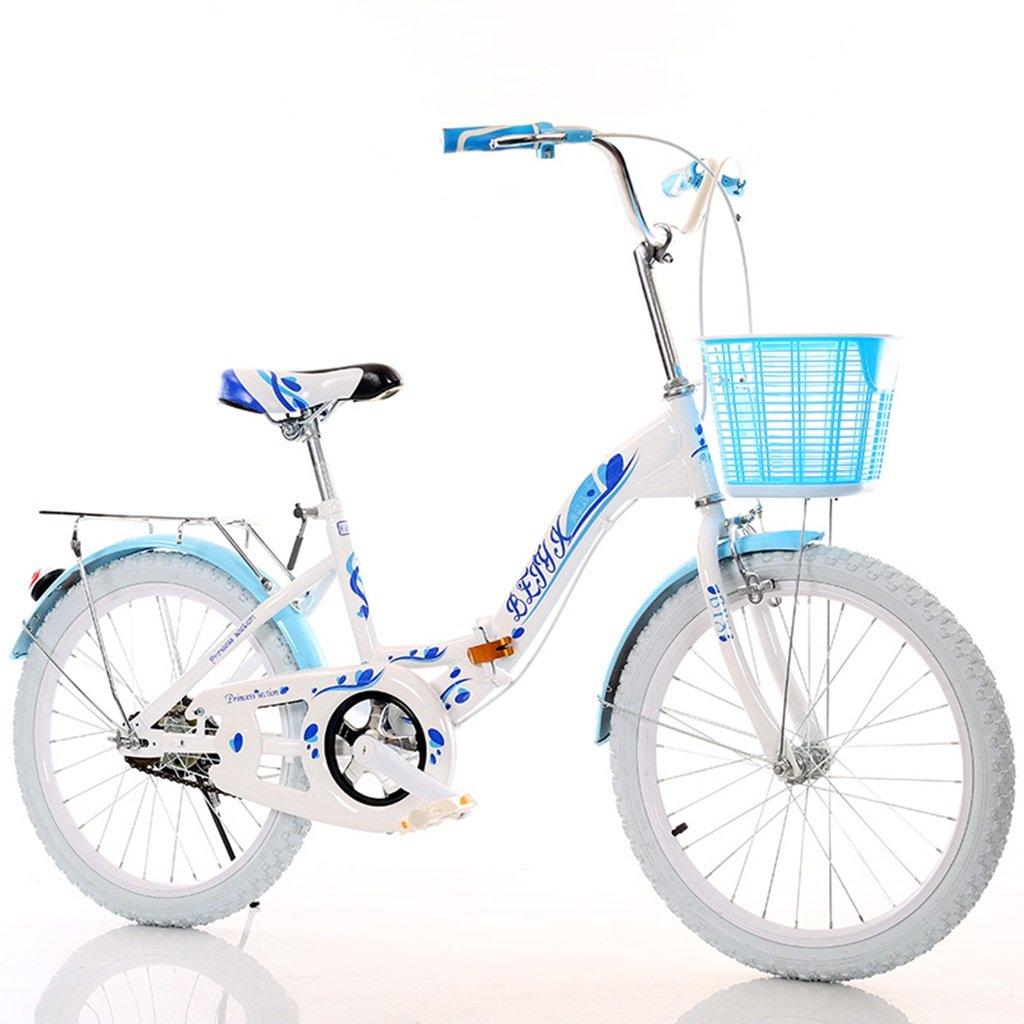 QFF クリエイティブ自転車、ダンピングガール自転車ライト自転車ボーイマウンテン自転車ノンスリップチャイルド自転車80 * 130CM ZRJ (色 : 青) B07D37DYVN青