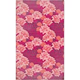 Leopards And Peonies Area Rug: Large Soft and Stain Resistant