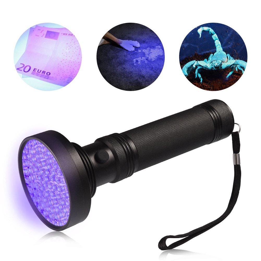 100 LED Beads with Lanyard LEDGLE LED UV Flashlight UV Beast Pet Urine Finder Stain Detector Black Lights Torch