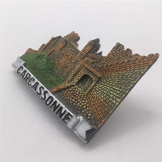 Weekino Souvenir Carcassonne Castillo Francia Imán de Nevera Resina 3D Viaje de la Ciudad Recuerdo de Viaje Colección de Pegatinas: Amazon.es: Hogar