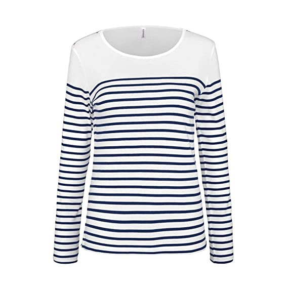Kariban Manches T K386 Marinière FemmeAmazon Shirt Longues 8XwPkn0O