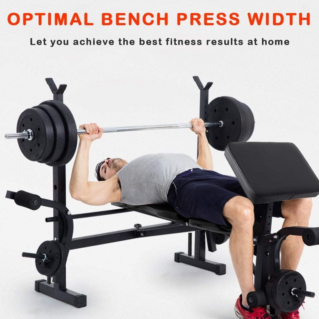 Details about  /Weight Bench Adjustable Home Gym Press Lifting Barbell Exercise Workout Fitness