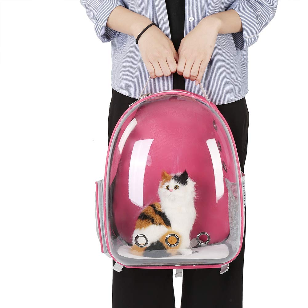 Amazon.com : Fdit Pet Cat Backpack Capsule Space Bubble Dome Carrier Cage Transparent Breathable Portable Carrying Bag 1Pc (Rose Pink) : Pet Supplies