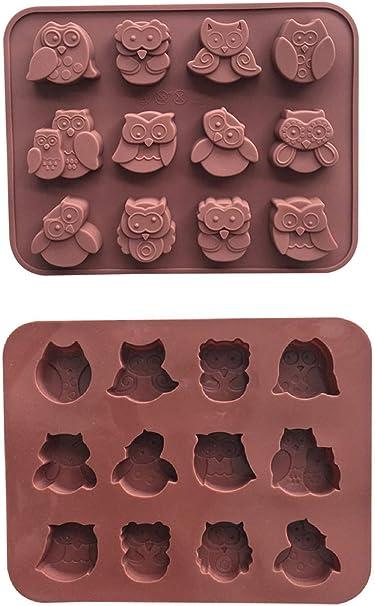 Owl Chocolate Candy Fondant Mold
