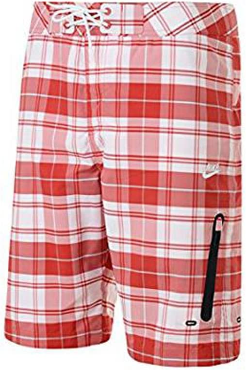NIKE 'Prodigy' Check Plaid Print Beach Swim Shorts