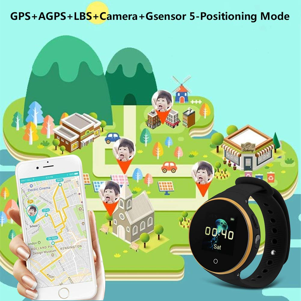 80dd782b21e076 VBESTLIFE GPS Smart Watch Kid Safe pour Smart Montre Bracelet, Enfant Montre  SOS LBS + GPS + AGPS Positionnement Tracker Kid Safe Anti-Perdu pour Enfant.