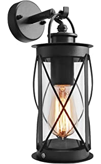 Outdoor Wall Lantern Down Light Black Metal Stainless Steel Vintage Garden  Lamp IP44 ZLC014