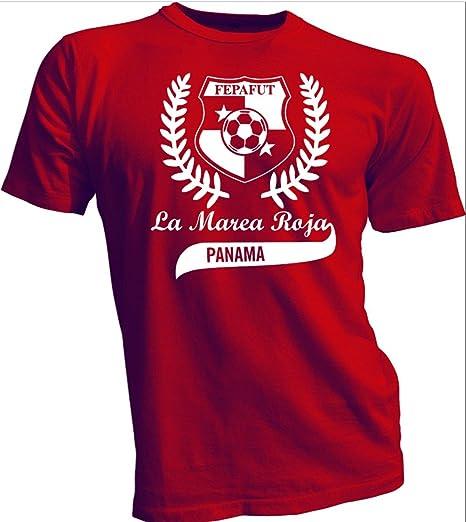 col-p Seleccion de Panama Futbol Soccer T Shirt Camiseta Marea Roja