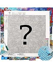 5D DIY Mystery Diamond Painting Kit, Square Full Drill Diamond Craft for Adult and Kids, Cross Stitch Diamond Art, Mysterious Paint by Diamonds Gem Jewel Art 13.7x13.7 Inch