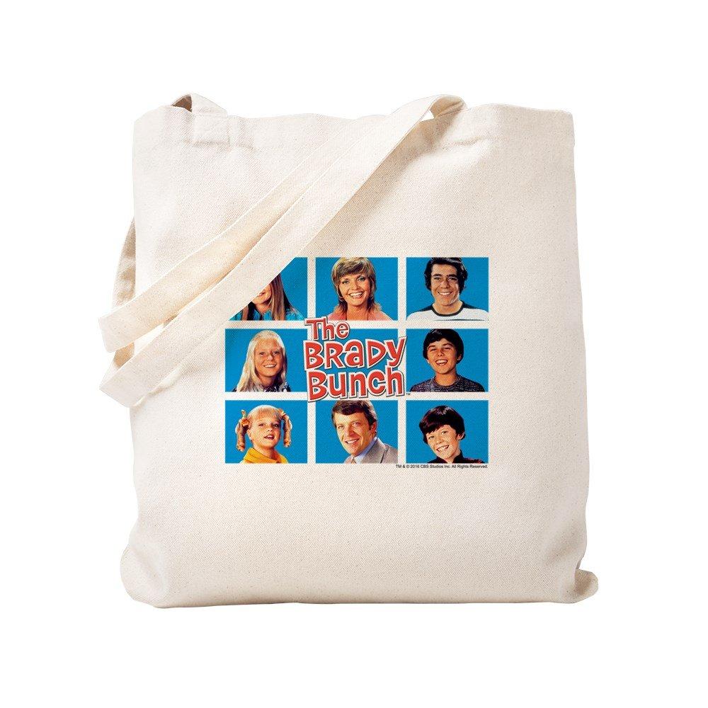 CafePress – the Brady Bunchグリッド – ナチュラルキャンバストートバッグ、布ショッピングバッグ S ベージュ 1706972636DECC2 B0773SZ8YN  S